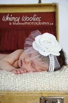 Pattern 'Wee Whimsies' Crochet Fascinator by whimsywoolies on Etsy, $3.99