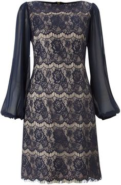 34 Sleeve Lace Shift Dress - Lyst