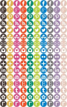 Craftiments:  Free Social Media Icons for your site!