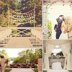 30 Unique Altar Alternatives For Outdoor Weddings..   Naomi, look at the one with the pallot steps