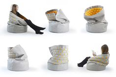 A New Way to Sit: Snug Chair by Kumeko in home furnishings  Category