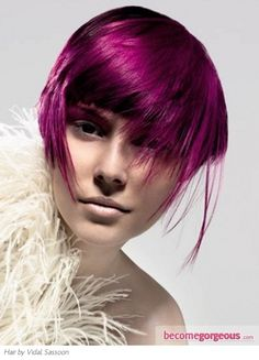 gorgeous magenta hair color