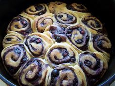 Dutch Oven Madness!: Blueberry Cinnamon Rolls