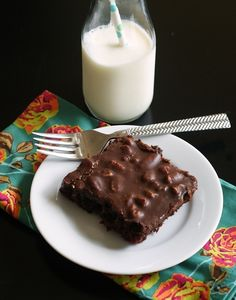 Texas Sheet Cake http://southernfood.about.com/od/chocolatecakes/r/bl30620s.htm