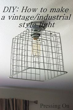 diy industrial decor projects | DIY Industrial Ceiling Light