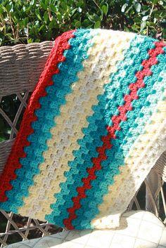 blanket-granny stitch striped