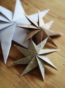 Estrellas de papiroflexia