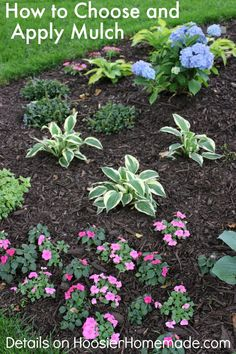 How to Choose and Apply Mulch to Flower  Landscaping Beds | Details on HoosierHomemade.com