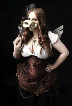 Steampunk Woman Fashion [Demorafairy on Imgur & DeviantArt] http://imgur.com/a/Lon89