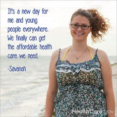 A quote about health insurance from Savanah from Tampa, FL.