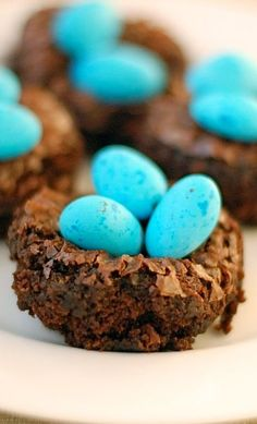 Easter Eggs In A Brownie Nest