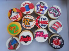 Theater Cupcakes by Crazy Creative Shelby
