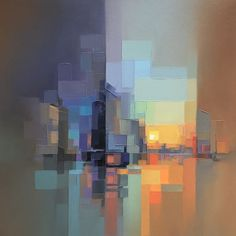 Artist Creates Modern Landscapes In His Unique Abstract Style (13 Pics) | Bored Panda