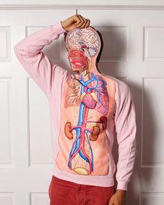 MOSHITA — Anatomy Sweatshirt GreatWhiteVintage sweaters, work party, halloween costumes, book illustrations, anatomi sweatshirt, human body, biology, jumper, bodi anatomi