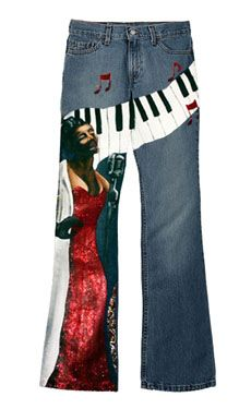 The Jazz Singer - Hand Painted Jeans