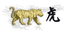 Chinese Horoscopes - The Tiger  The Tiger is said to be lucky vivid, lively and engaging. Another attribute of the Tiger is his incredible bravery, evidenced in his willingness to engage in battle or his undying courage. Maybe he's so brave because he is so lucky. But the Chinese say a Tiger having a Tiger in the house is the very best protection against the evils of fire, burglary.