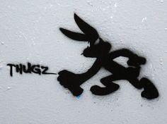 #Thugz - #stencil. #streetart #wheatpaste #pasteup #fezwitch #melbournestreetart #art