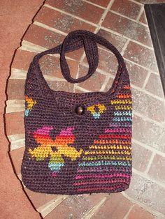 Rainbow Stripes crochet bag by Anne Churches