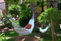 garden beauti, dream garden, hammock