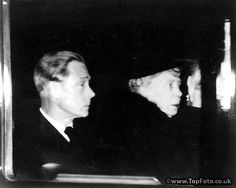 Queen Mary with the Duke of Windsor (King Edward VIII), driving away from Westminster Hall tonight after making a surprise visit to see the late King George VI who lies in state in the Hall.13th February 1952.