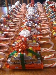 Must remember this when Christmas comes around. Candy sleighs! What a cute idea for small gifts :) by joanne