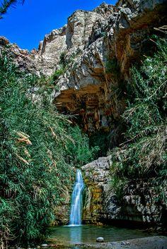 King David Falls, Israel.