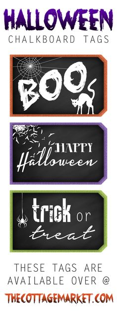 Free Printable Halloween Chalkboard Tags