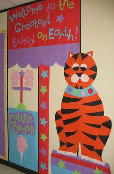Circus Themed School Hallway Decorations