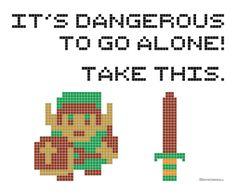 Legend of Zelda cross stitch pattern - free printable - #DIY #Craft