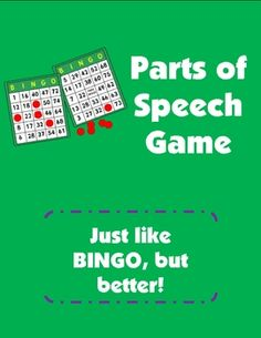 Just like BINGO, but better!  Parts of Speech Game download