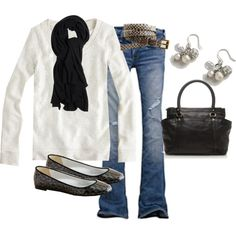 Black and white and jeans