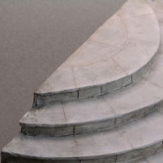 Make Miniature and Dollhouse Scale Stone Steps and Stairs From Foam and Clay