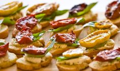 Sun dried tomato appetizers