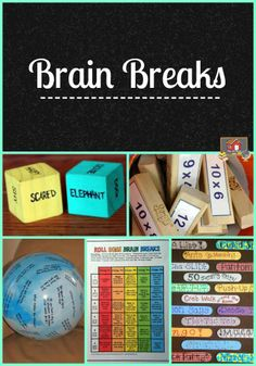 Need some new Brain Break ideas?  Stop by this Pinterest board to scope out more! brain break, teacher