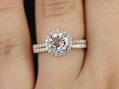 Kubian Original Size 14kt Rose Gold Round Morganite by RosadosBox