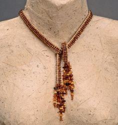 Knitted jewelry by Carolien in Jozi.