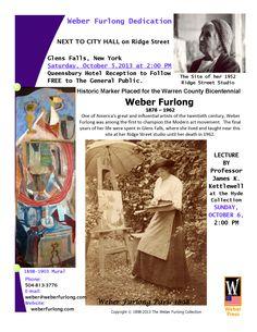 """Weber Furlong. """"Historic Marker Dedication"""" Saturday, Oct. 5, 2013. Glens Falls, New York."""