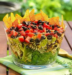 layered mexican party salad...