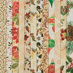 FAT-QUARTER CREAM HOLIDAY GET TOGETHER FABRIC COLLECTION