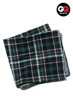 The Tie Bar Plaid Cotton Flannel Pocket Square #Nordstrom #GQSelects