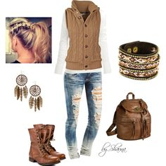 """First Fall football game"" by shauna-rogers on Polyvore"