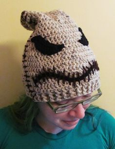 Oogie Boogie Hat, Crocheted Beanie inspired by Nightmare Before Christmas, Custom any size | HatsandSpats - Accessories on ArtFire