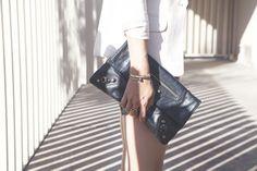 Balenciaga Clutch + Vita Fede Futturo Ring Posted by Damsel in Dior #VitaFede #statement