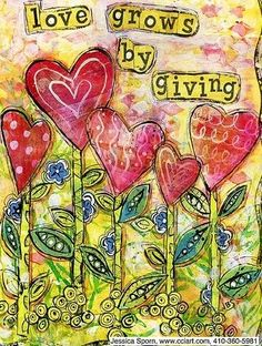 """""""Love grows by giving""""  #quotes"""
