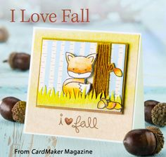 I Love Fall from the Autumn 2014 issue of CardMaker Magazine. Order a digital copy here: http://www.anniescatalog.com/detail.html?code=AM5254
