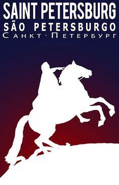Saint Petersburg #vintage #travel #poster #Russia