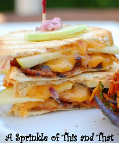 Apple Bacon Cheddar Paninis: the best panini combo ever!