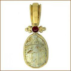 Ancient Egyptian scarab pendant, 1,600 BC, 17th Dynasty #AncientEgypt #History