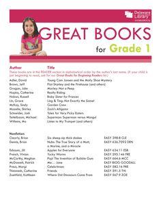 Great Books for Grade 1   www.delawarelibrary.org