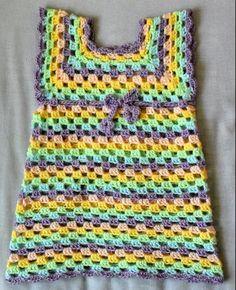 Crochet toddler granny tunic. Pattern from http://daysofyarning.blogspot.pt/2013/04/sweet-little-granny-tunic-dress-free.html?m=1